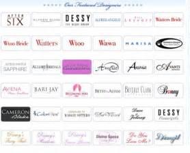 List Of Designers List Of Wedding Dress Designers