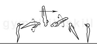 gymnastics layout half twist front somersault full twist floor gym drill pro