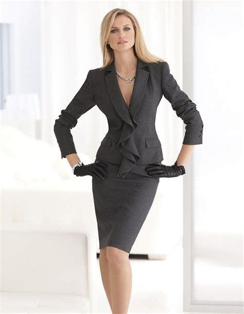 office fashion ladies pinterest gray suit office apparel for women work formal outfit