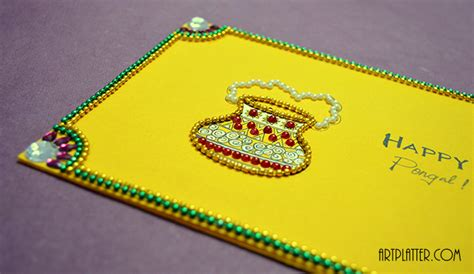how to make pongal greeting card for your home craft ideas archives platter