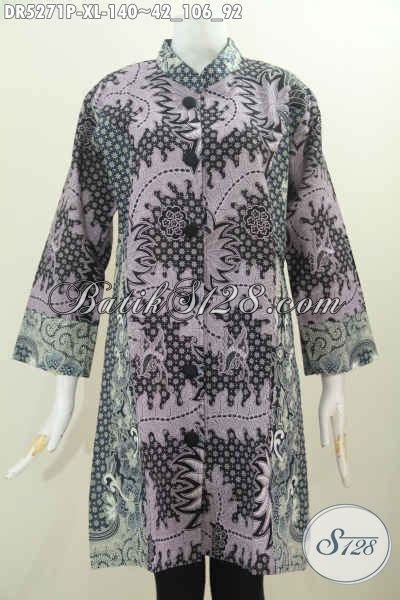 Terusan Daleman Pendek Kode 5906 jual baju batik dress terusan busana batik istimewa