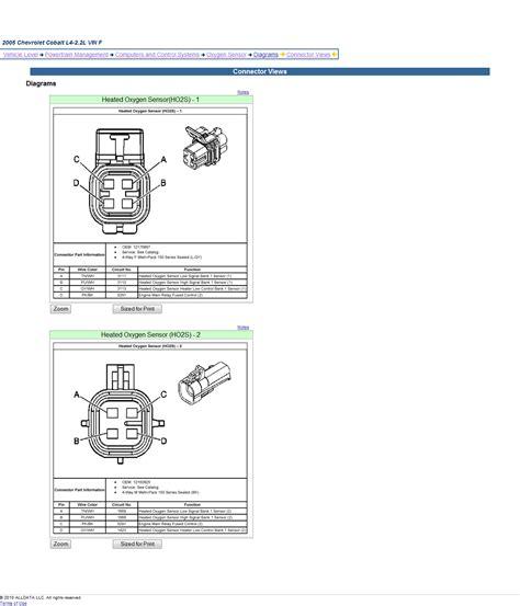 Gm O2 Sensor Wiring Diagram 2005 Chevrolet Cobalt