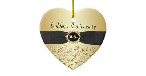 Wedding Anniversary Ornaments by 50th Wedding Anniversary Ornament Zazzle Co Uk