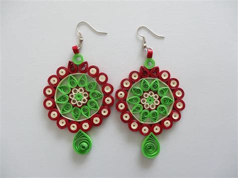all handmade paper quilled earrings quilling