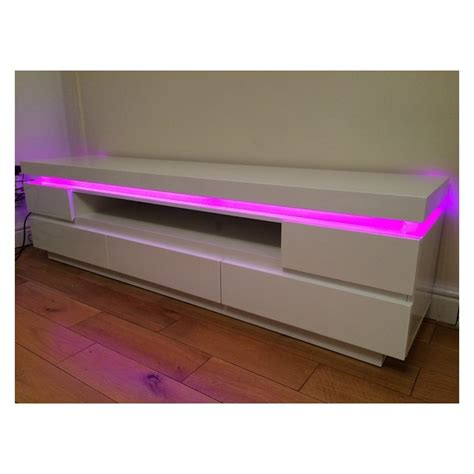 Tv Led Makassar otis iii gloss tv unit with led lights tv stands home furniture