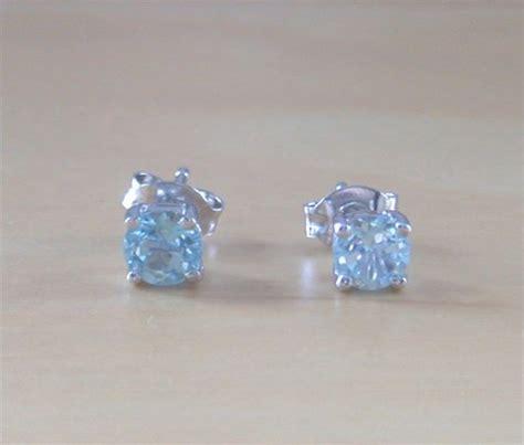 the gallery for gt november topaz 925 blue topaz stud earrings sterling silver topaz