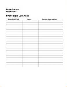 Event Sign Up Sheet Template by Event Sign Up Sheet Template Authorization Letter Pdf