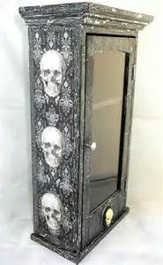skull home decor skull medicine cabinet skull home decor