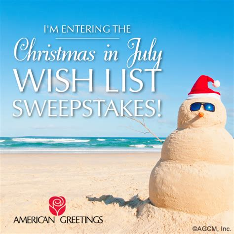 Wish List Sweepstakes - the countdown to christmas american greetings
