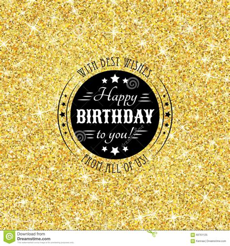themes golden perfect happy birthday template with golden confetti theme