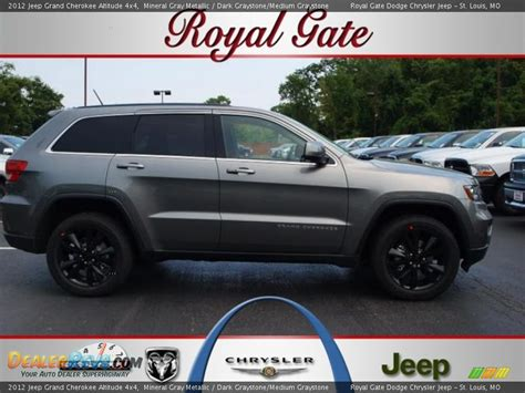 dark gray jeep cherokee 2012 jeep grand cherokee altitude 4x4 mineral gray