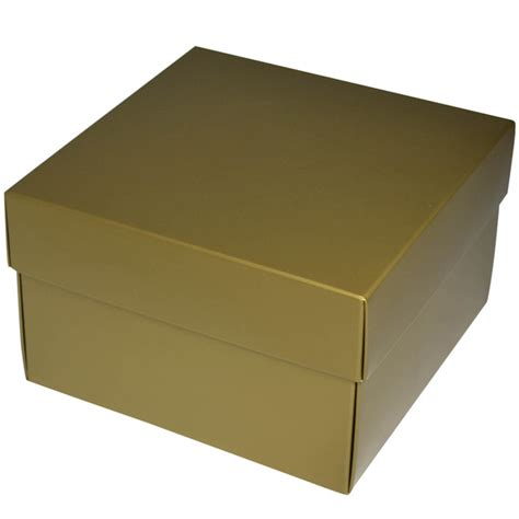square large gift box gloss gold