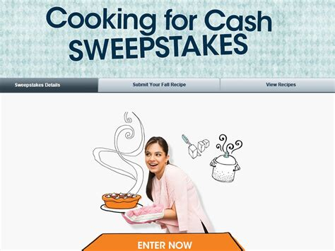 Cash Sweepstakes Ending Today - the valpak cooking for cash sweepstakes sweepstakes fanatics