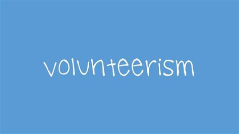 Great Volunteerism Blogs volunteerism you encountered the vicious circle