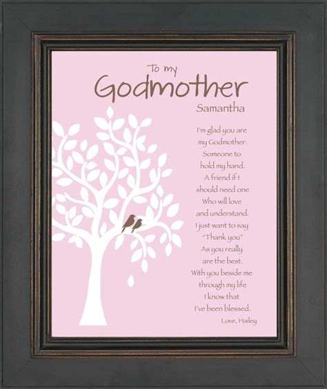 godmother gift personalized godmother print gift for