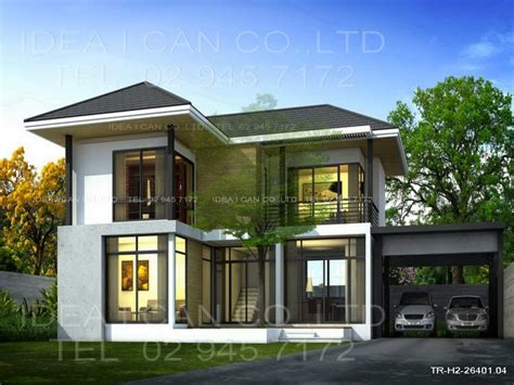 modern 2 story house plans modern contemporary house