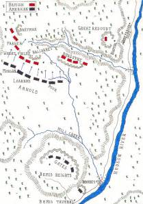 map of the battle of saratoga 17th october 1777 by