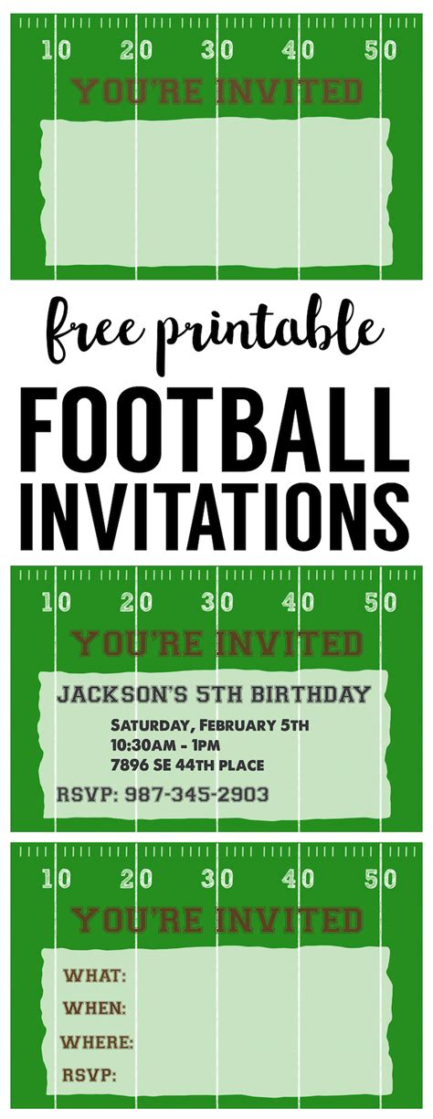 football ticket invitation template football invitation template free printable