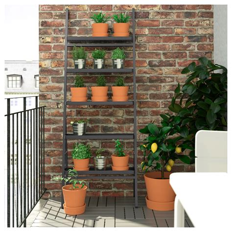 ikea plant stand hack salladsk 197 l plant stand outdoor grey 173 cm ikea