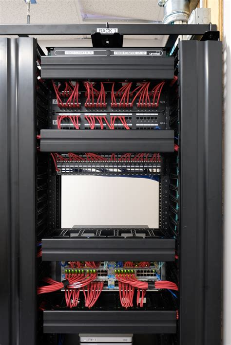 Inter Rack Cabling by Rack Cable Management In Cabinet And Between Cabinets