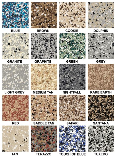 epoxy colors windy city coating epoxy color charts chicagoland epoxy