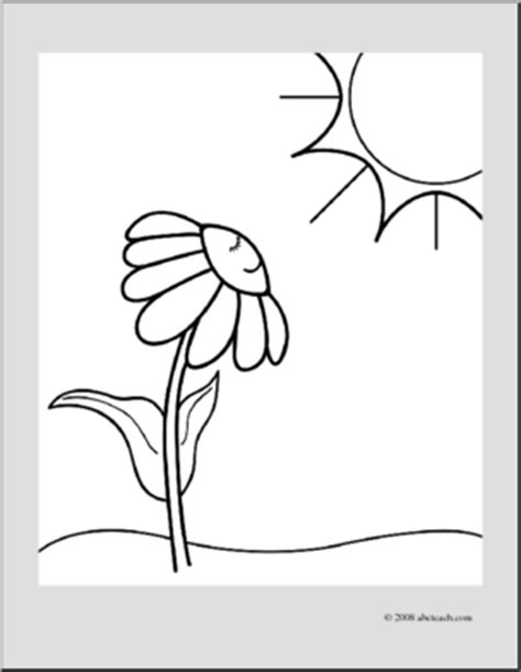 sunny daisy coloring page clip art daisy sunny day coloring page i abcteach com