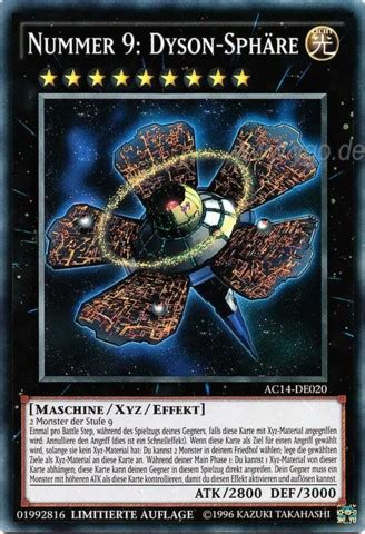 yugioh dyson sphere deck number 9 dyson sphere nummer 9 dyson sph 228 re ac14