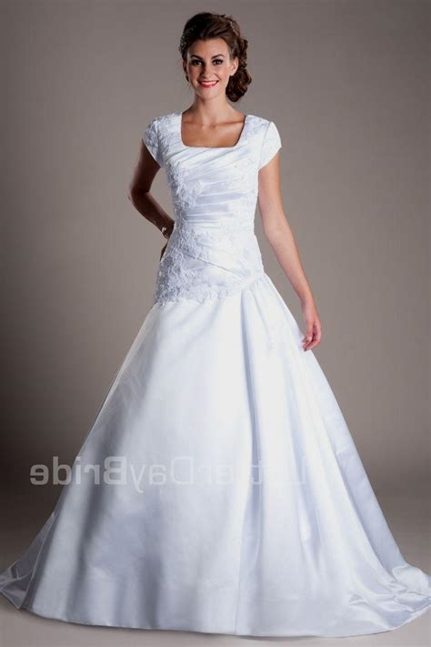 Discount Lds Wedding Dresses by Wedding Dresses Modest Lds Discount Wedding Dresses