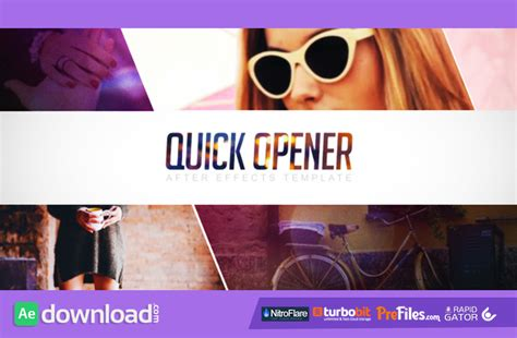 after effects free templates openers quick opener 11078877 videohive project free download