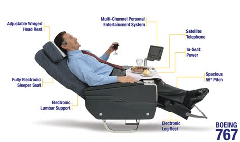 Airline Reclining Seats by Boeing 767 Businessfirst Kabine United Airlines