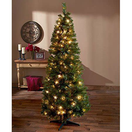 bq pop up christmas trees 6 ft pre lit pop up tree clear lights walmart