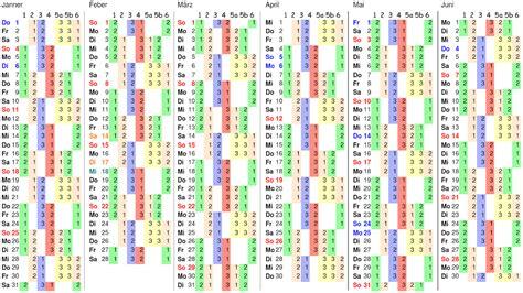 Igm Kalender 2017 Schichtkalender 2015