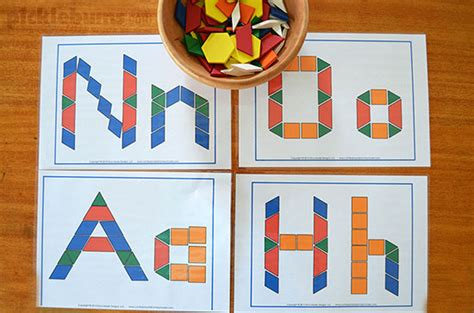 letter pattern games pattern blocks 20 ideas activities free printables