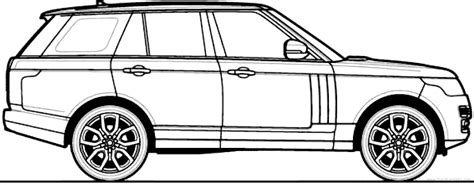 range rover drawing range rover drawing sketch coloring page