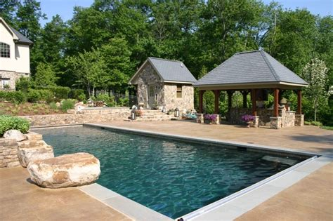 French Country Home Landscape Country House Plans With Pool