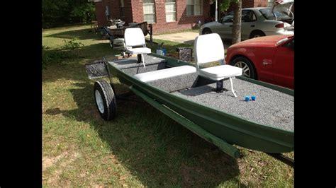 10ft jon boat mud motor finished jon boat project youtube