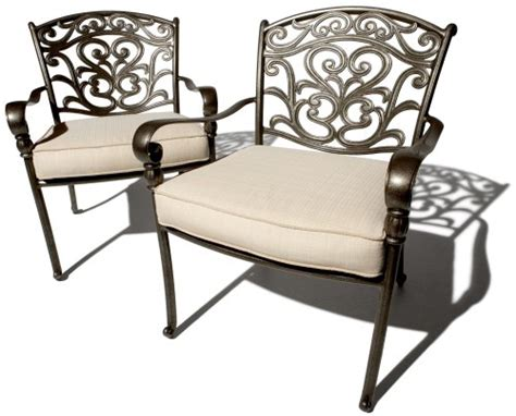 strathwood st thomas cast aluminum deep seating arm chair