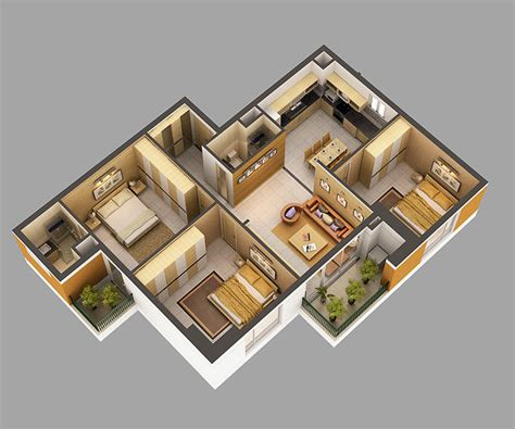 3d model home interior fully furnished cgtrader