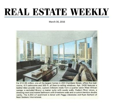 real estate weekly 200 chambers residence 24de nest