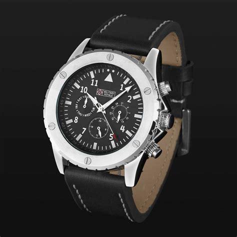 military royale jam tangan analog pria  black
