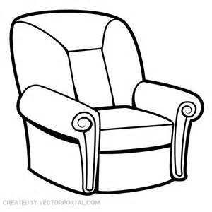 armchair vector image free vector free