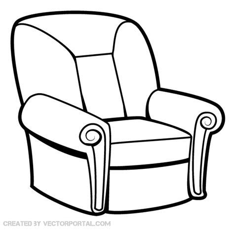 How To Draw A Armchair by Armchair Vector Image Free Vector Free