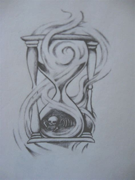 hourglass skull tattoo designs hourglass of bones by chocopbcup22 on deviantart