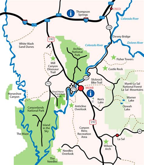 map of moab the 3 most iconic locations in utah locationshub