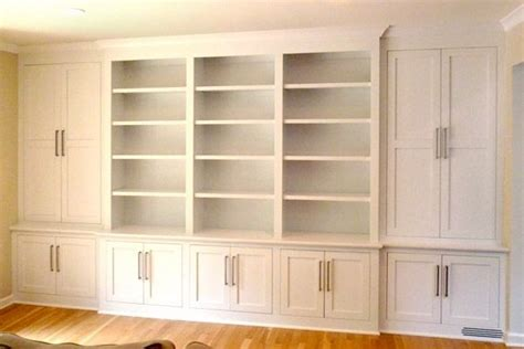 wall units storage custom shaker contemporary built in wall storage system
