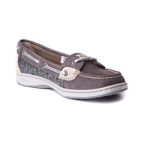 womens sperry top sider angelfish boat shoe gray
