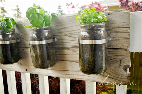 Jar Herb Planter by Herb Planters Using Jars