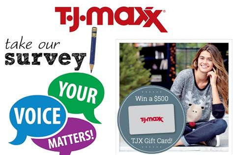 Tj Maxx Sweepstakes - tell t j maxx feedback in customer survey to win 500 gift card sweepstakesbible
