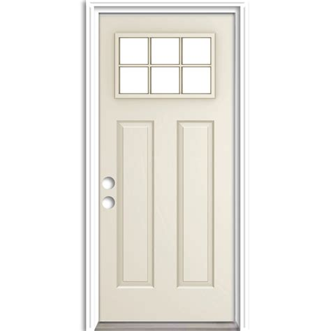 Reliabilt Exterior Doors Shop Reliabilt Craftsman Insulating Craftsman 6 Lite Right Inswing Steel Primed