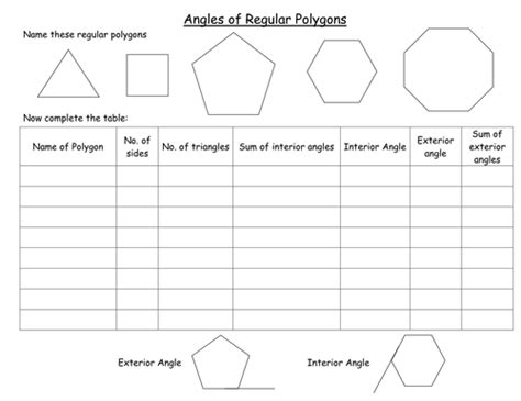 Angles In Polygons Worksheet by Interior And Exterior Angles Of Polygons By Clairelogan100